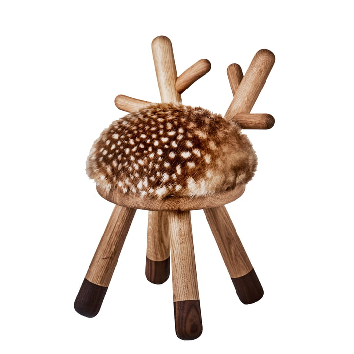 Chaise haute Bambi de EO Danemark en chêne / noyer