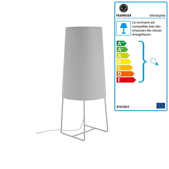 Mini lampe de table Sophie avec gradateur LED de frauMaier en gris clair