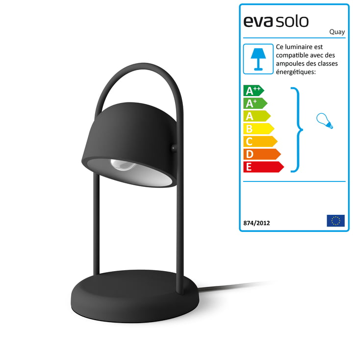 Lampe de quai Ø 16 x H 40 cm par Eva Solo en noir