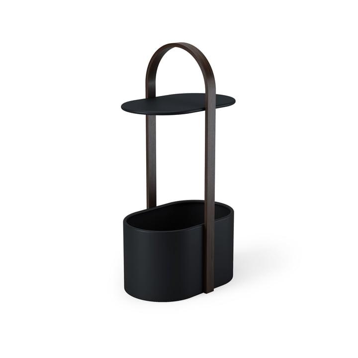 Table d'appoint Umbra en noyer / noir