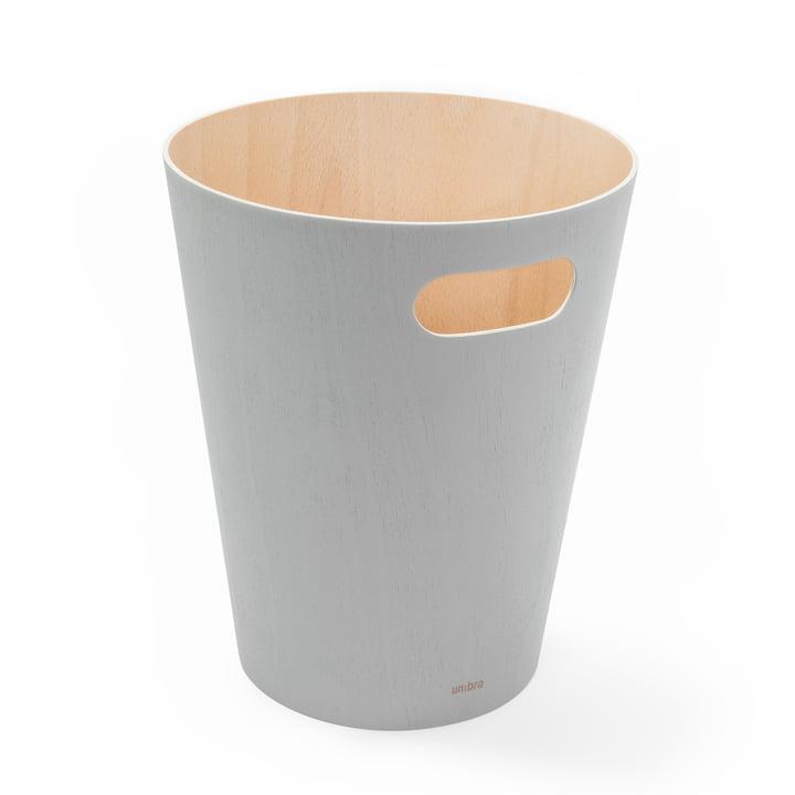 Corbeille à papier Umbra en bois gris