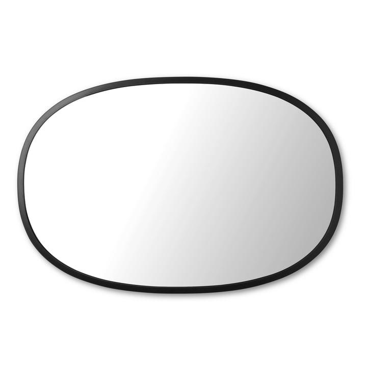 Miroir à moyeu ovale 61 x 91 cm de Umbra en noir