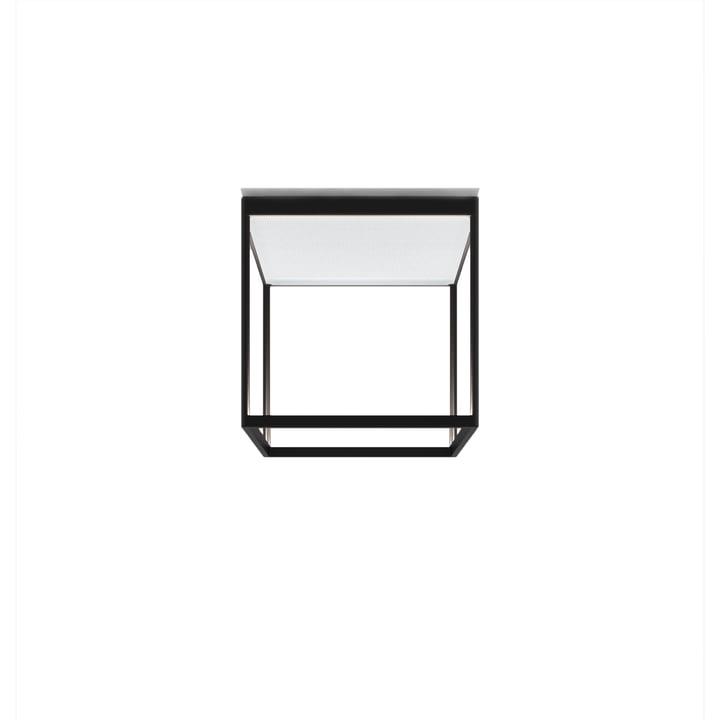 Plafonnier Reflex² 300 M LED, 2700 K / 4520 lm, noir / verre texturé blanc par serien.lighting
