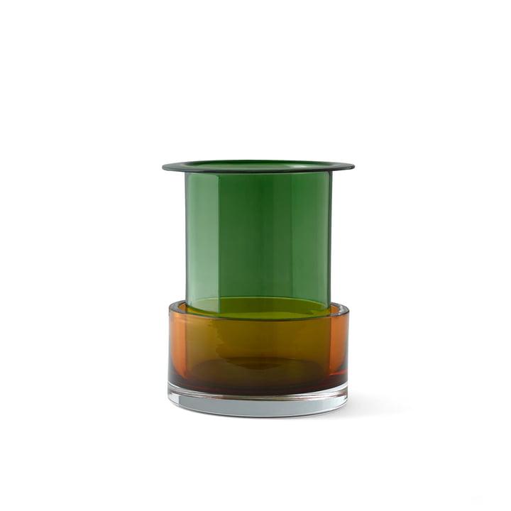 Vase triecolore SH1 de & tradition en malachite / cornaline