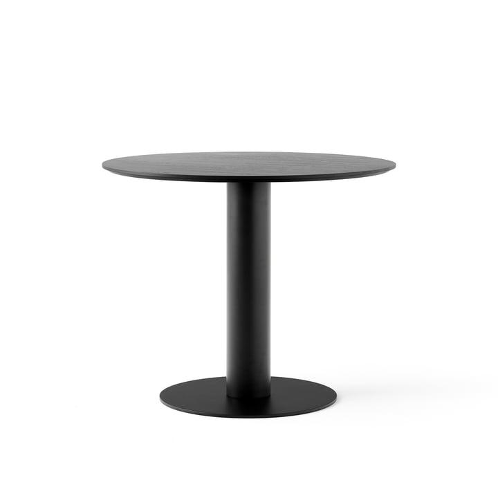 Entre table SK11 Ø 90 cm de & tradition en chêne laqué noir laqué noir