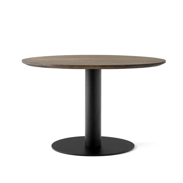 Entre Table SK12 Ø 120 cm de la & tradition fumé en chêne