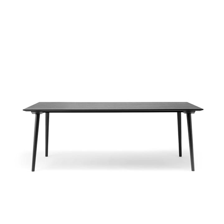 Entre table SK5 90 x 200 cm de & tradition en chêne laqué noir laqué noir