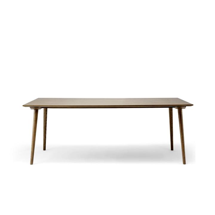 Entre Table SK5 90 x 200 cm de & tradition fumée en chêne