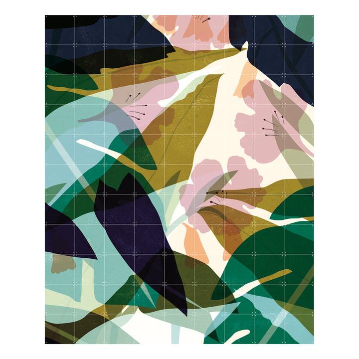 Feuilles (Lotte Dirks) 180 x 220 cm d'IXXI