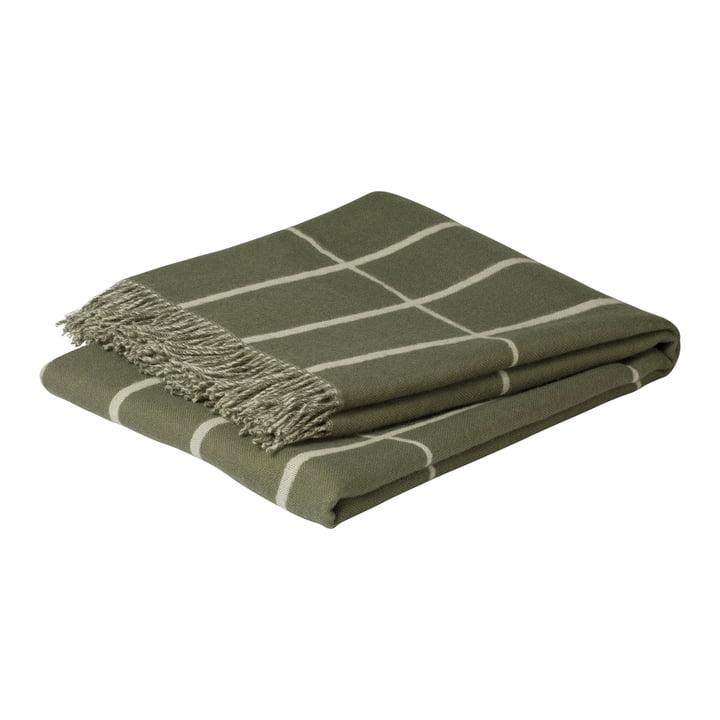 Couverture en laine Tiiliskivi 130 x 180 cm, gris-vert / blanc par Marimekko