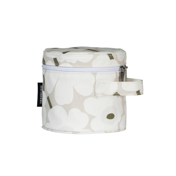 Mini sac à cosmétiques Liuske Unikko, beige / blanc / gris-vert par Marimekko