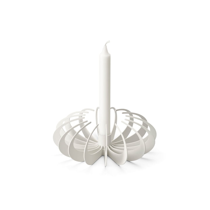 Bougeoir d'ombre par Design House Stockholm en blanc