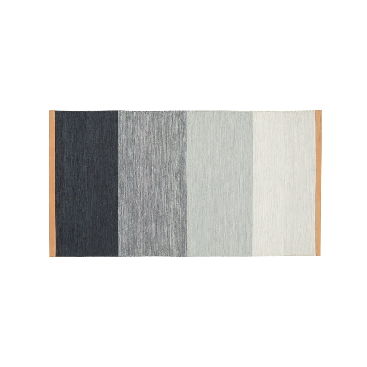 Tapis Fields 70 x 130 cm du Design House Stockholm en bleu / gris