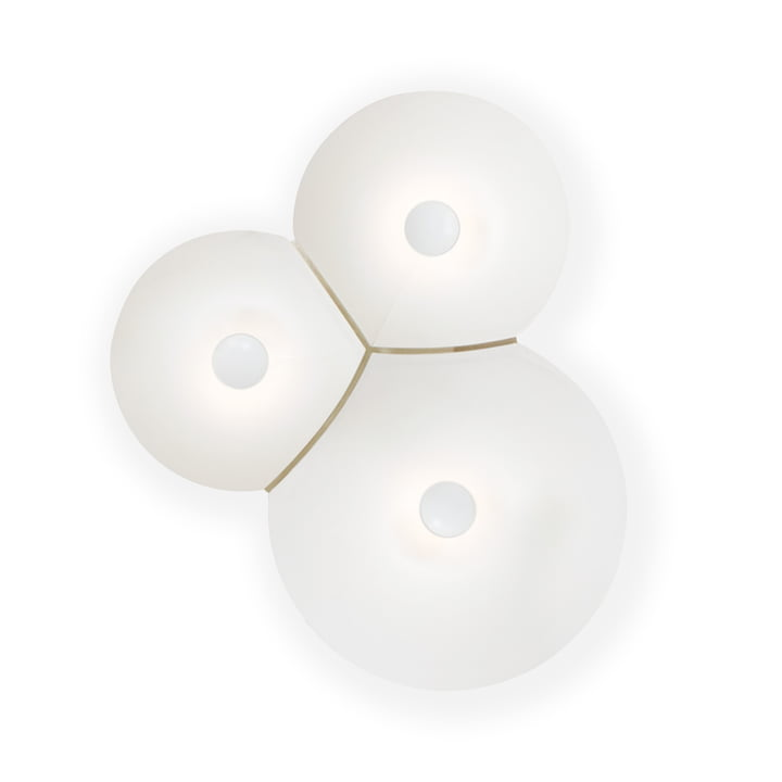 Applique murale Bulbullia LED de Luceplan en blanc petit modèle