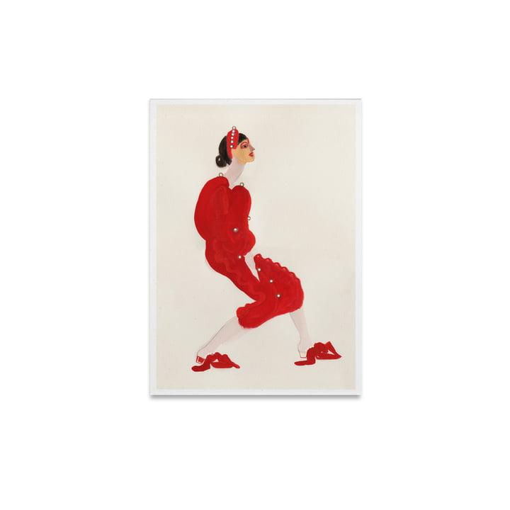 Rouge avec Perles 30 x 40 cm du Collectif Papier