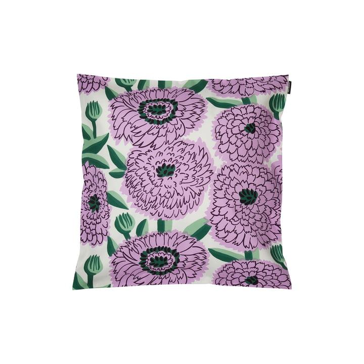 Housse de coussin Pieni Primavera 45 x 45 cm, blanc / violet / vert par Marimekko