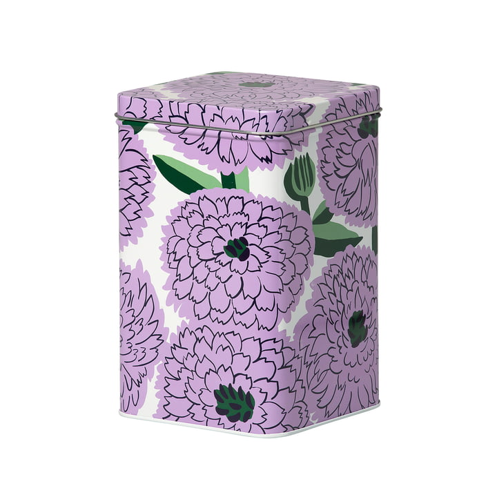 Boîte de rangement Primavera, blanc / violet / vert par Marimekko