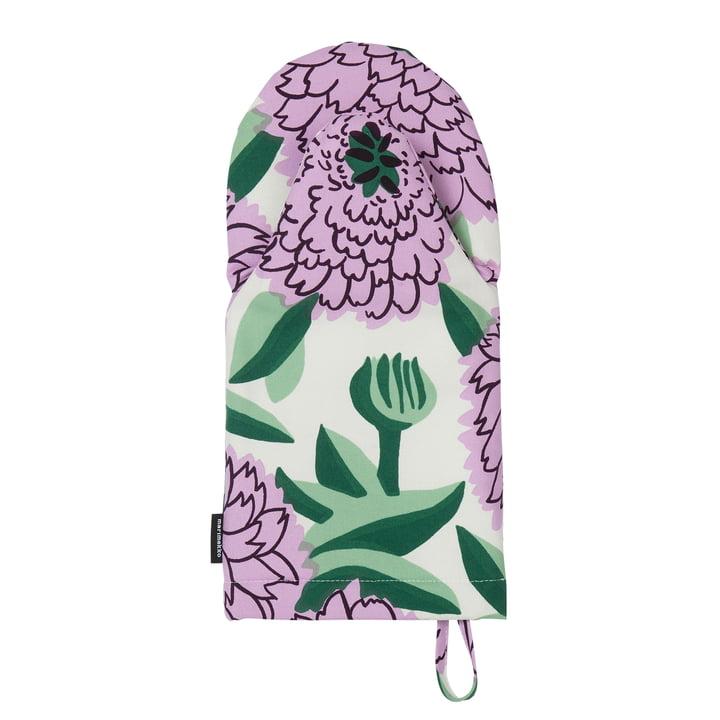 Gant de four Pieni Primavera, blanc / violet / vert par Marimekko