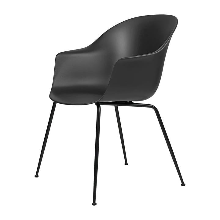 Chaise de salle à manger pour chauve-souris de Gubi en Base noir / noir