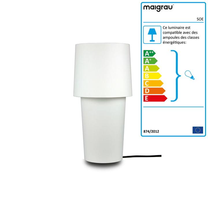 SOE 45 Lampe à poser, blanc de Maigrau