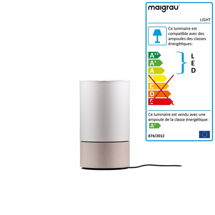 Lampe de table LIGHT 45 LED, blanc cendré, blanc de Maigrau