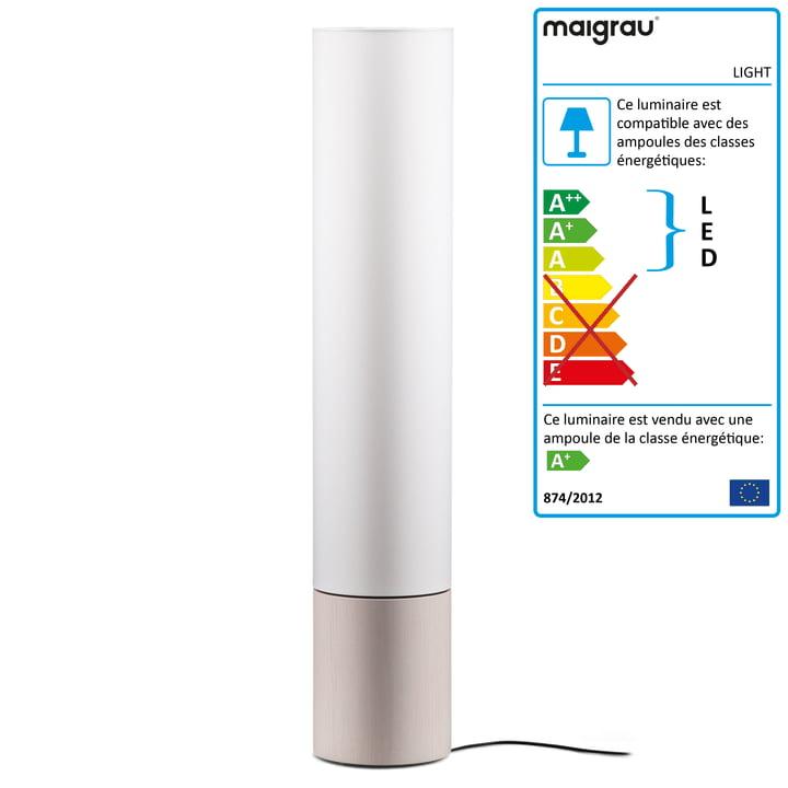 Lampadaire LIGHT 130 LED, blanc cendré, blanc de Maigrau