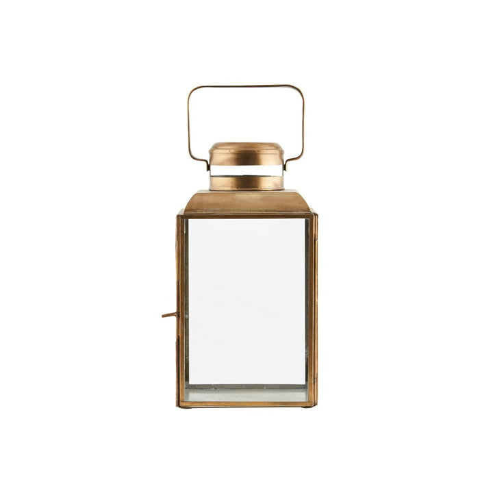 Vieille lanterne H 26 cm, laiton par House Doctor