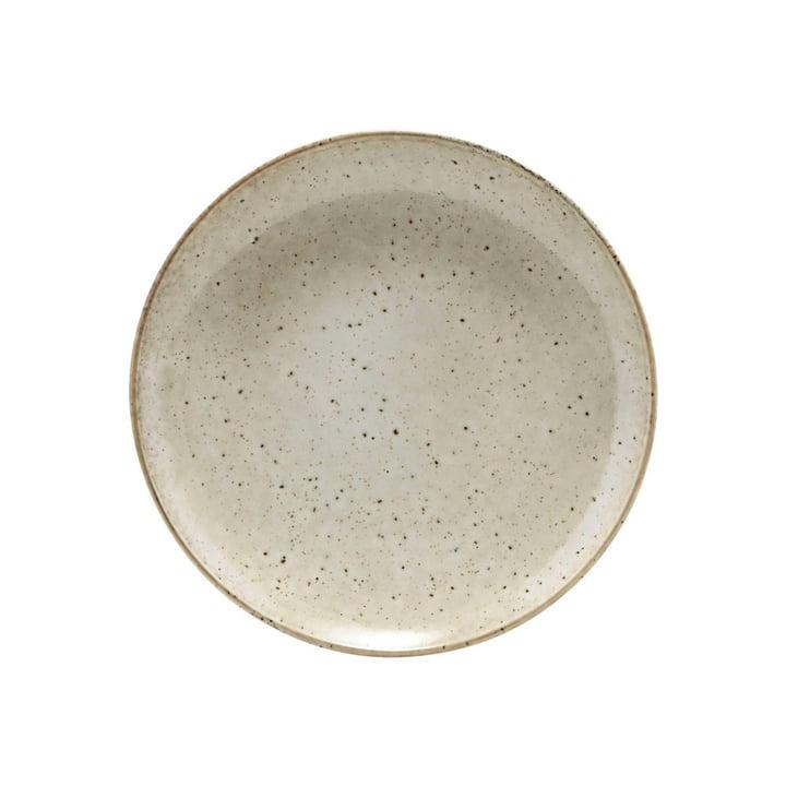 Assiette en faïence du lac Ø 21,4 cm, grise par House Doctor