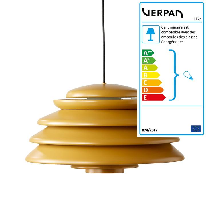 Pendentif jaune ruche Ø 48 cm de Verpan