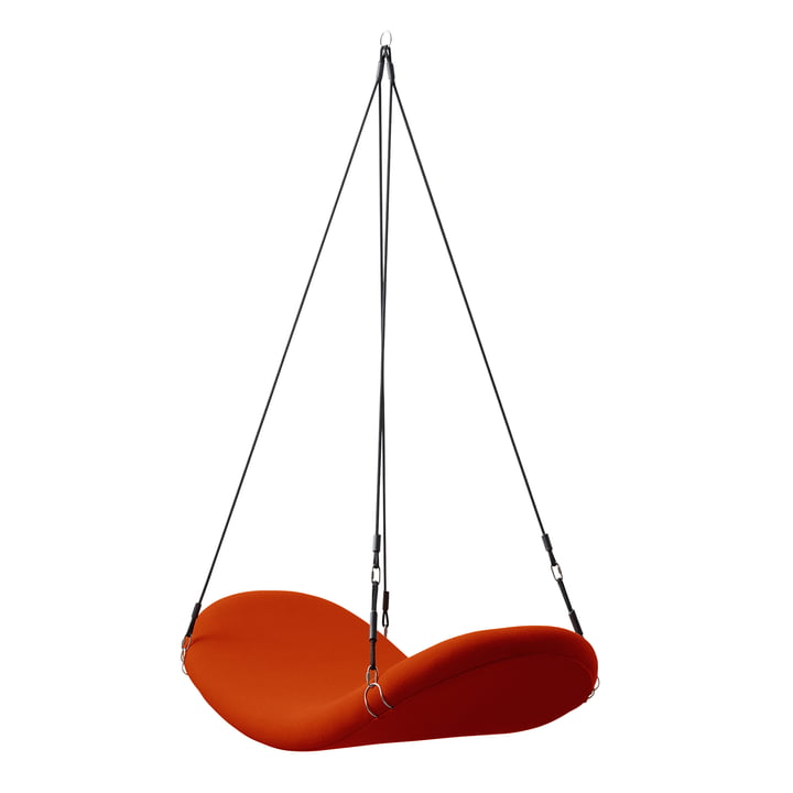Chaise volante, rouge-orange, (Hallingdal 65/600) par Verpan