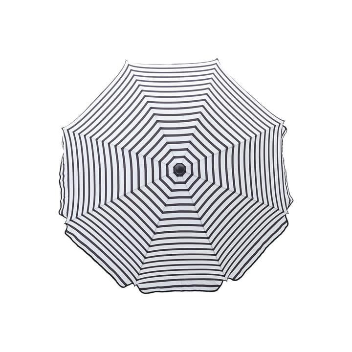 Parasol octogonal Ø 180 cm, noir / blanc par House Doctor