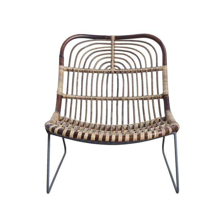 Chaise Kawa Lounge Chair, en rotin par le médecin de la maison