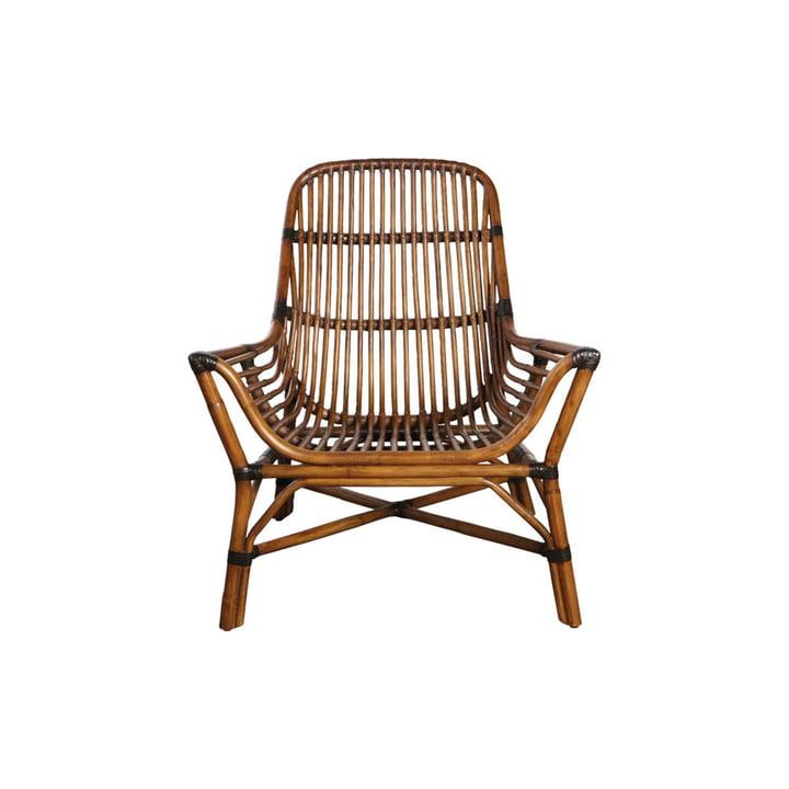 Chaise Colony Lounge Chair, marron par House Doctor