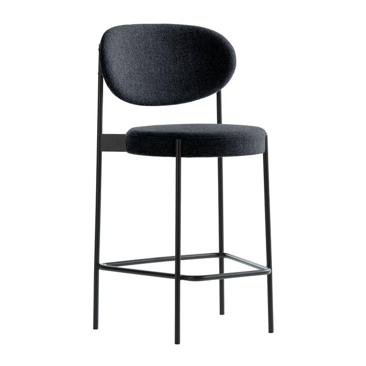 Chaise de bar 430 de Verpan en noir/ anthracite (Hallingdal 65/180)