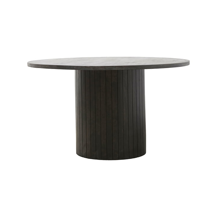 Table de repas à colonnes Ø 130 x H 74 cm par House Doctor en noir