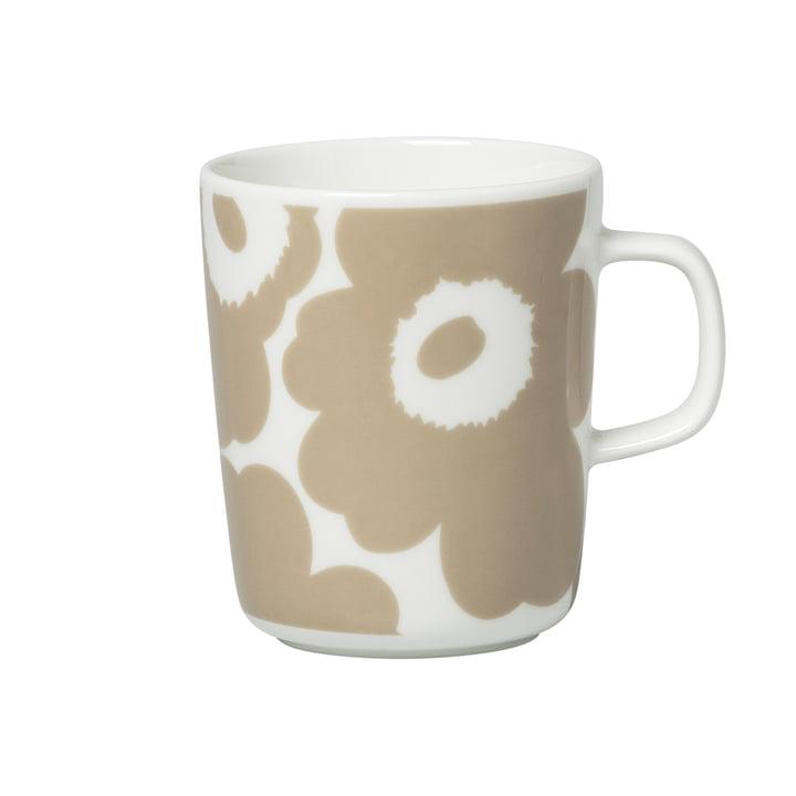 Tasse Oiva Unikko avec anse 250 ml, blanc / beige par Marimekko