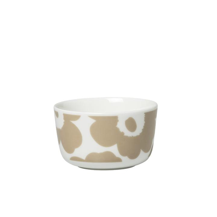 Oiva Unikko Bol 250 ml, blanc / beige de Marimekko