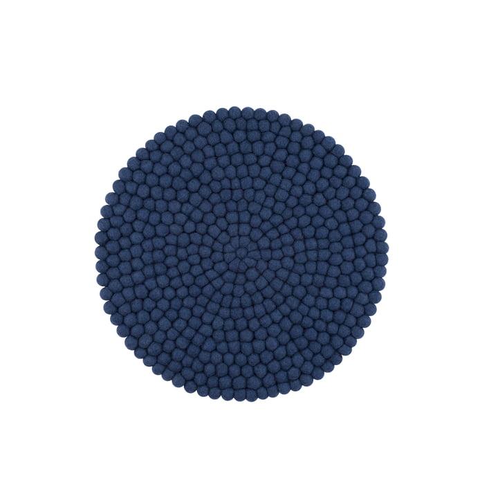 Housse de siège Alva Ø 36 cm de myfelt en bleu foncé