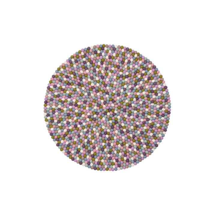 Tapis de boules de feutre Greta Ø 70 cm de myfelt