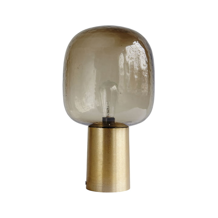 Note Lampe de table Ø 28 x H 52 cm de House Doctor en gris / laiton