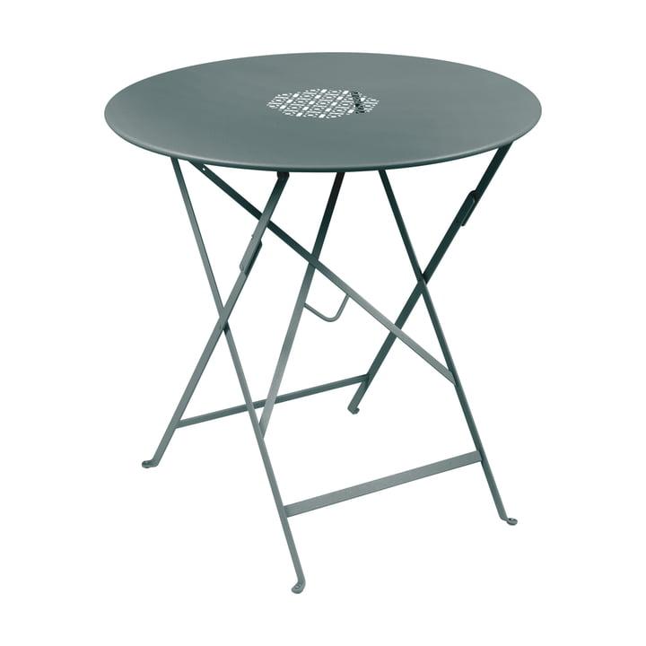 Lorette Table pliante Ø 77 cm, gris orage par Fermob