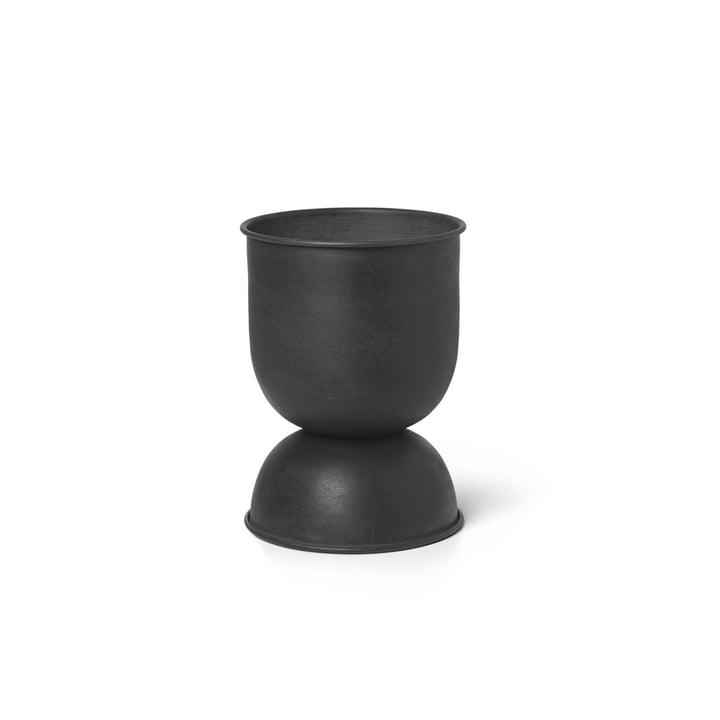 ferm Living - Pot de fleur sablier extra-petit, Ø 21 x H 30 cm, noir / gris foncé