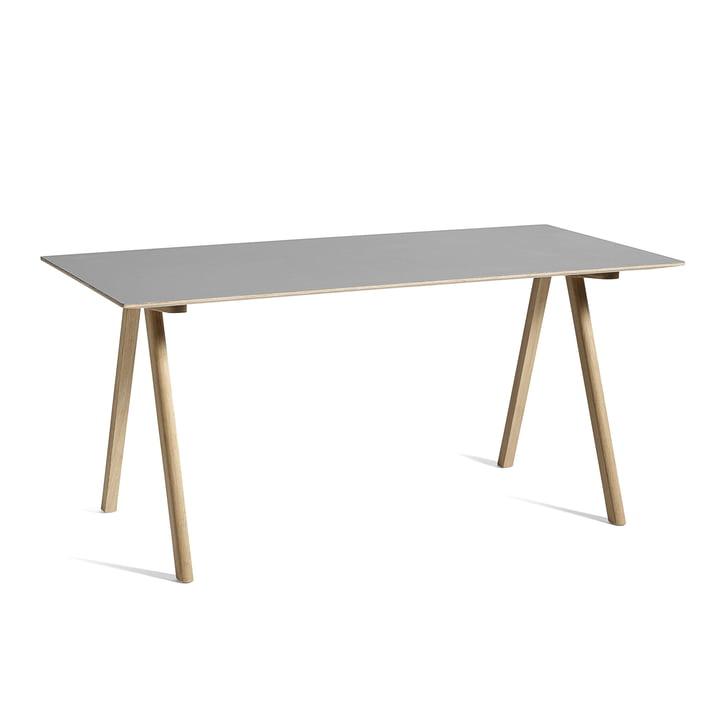 Table Copenhague CPH10, 160 x 80 cm, chêne / gris de Hay