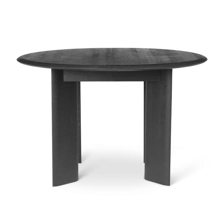 Table en biseau, Ø 117 x H 73 cm, chêne huilé noir by ferm Living