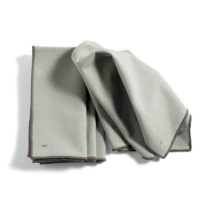 Contour Serviette de table, 40 x 40 cm, gris (lot de 4) de Hay