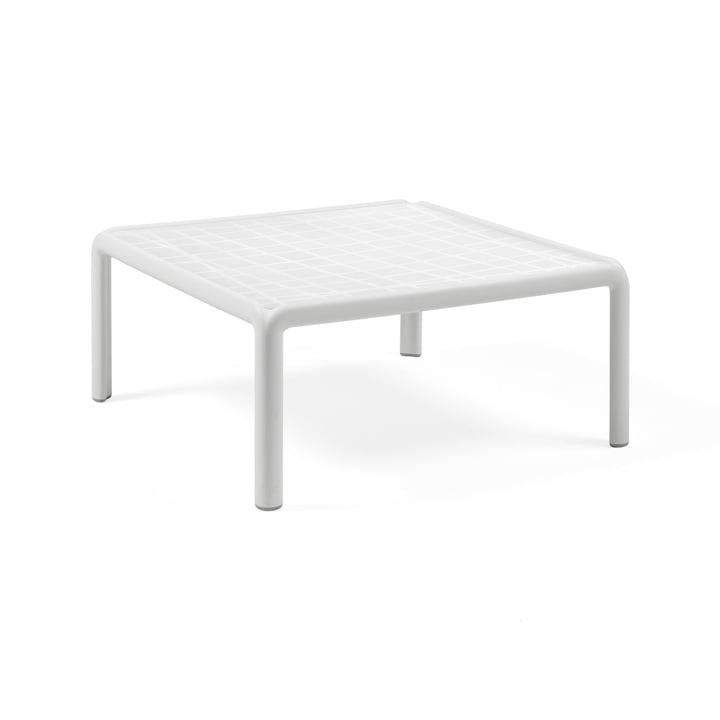 Komodo Table de jardin 70 x 70 cm, blanc de Nardi