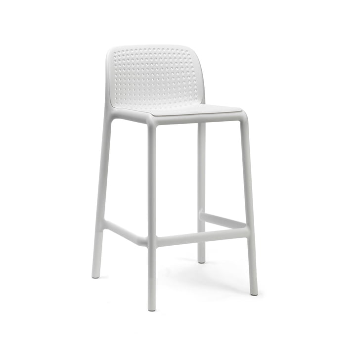 Lido Mini chaise de bar, blanche par Nardi