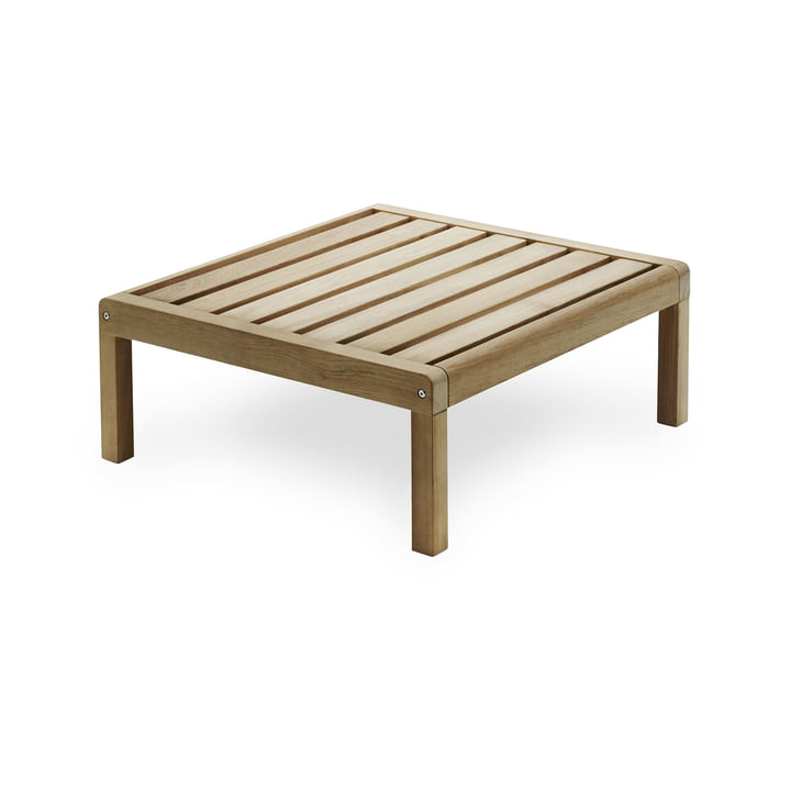 Virkelyst Table d'appoint 75 x 70 cm, teck de Skagerak