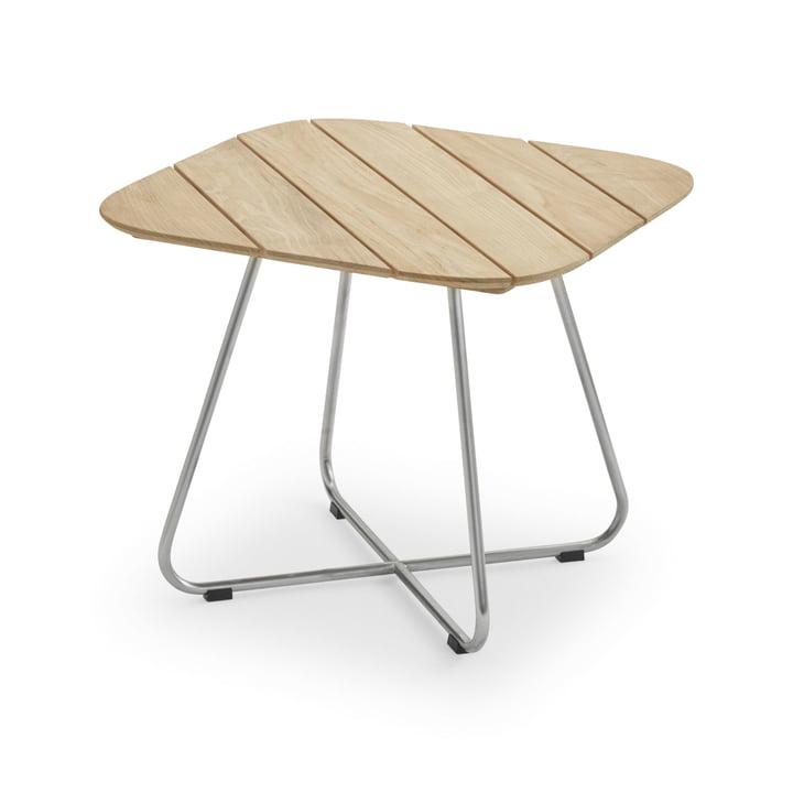 Lilium Lounge Table 60 x 60 cm, teck / acier inoxydable par Skagerak