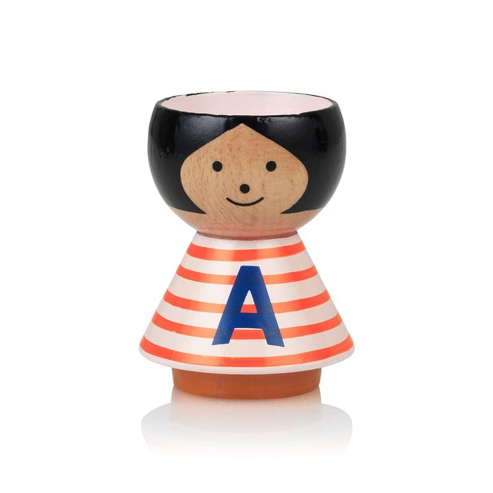 Bordfolk eggcup girl A de Lucie Kaas